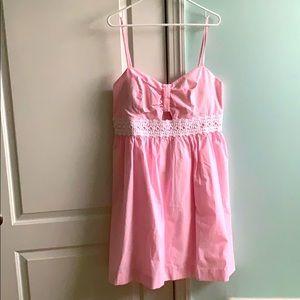 NWT LILLY PULITZER DRESS kaitlynn pink seersucker